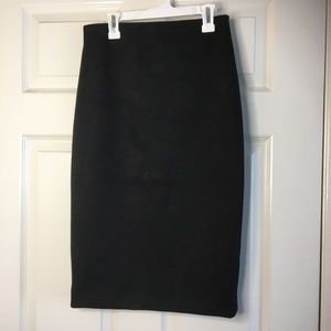 Faux Suede BCBGMaxAzria Fitted Pencil Skirt